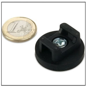 Rubber Covered Pot Magnets for Cable Mounting