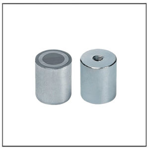 10mm Deep Pot Threaded Stem Alnico Magnet