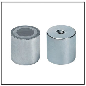 40mm Female Thread Alnico Cylindrical Magnet