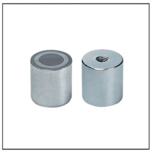 Alnico Deep Cylindrical Pot Magnet w Internal Thread