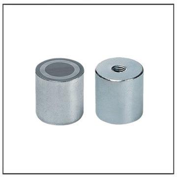 Alnico Deep Cylindrical Pot Magnet w Internal Thread
