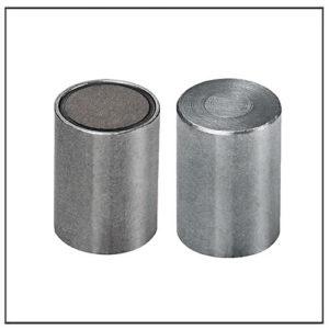10mm Bi-pole SmCo Pot Magnet Steel Body