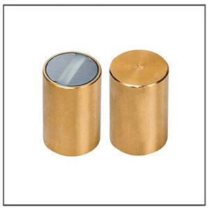 8mm Samarium Cobalt Deep Pot Magnets Brass Body
