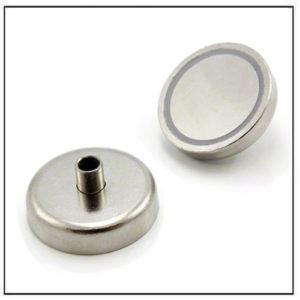 Samarium Cobalt Pot Magnet with Screwed Bush