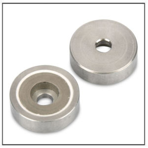 SmCo Shallow Pot Magnets with Cylindrical Borehole